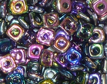 Quad Beads - #5 Crystal Magic Blue - 4mm 5 grams