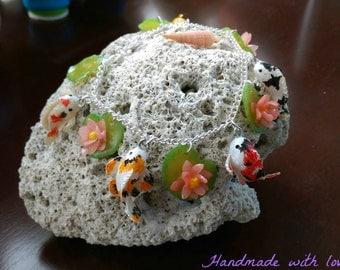 NOW 25% OFF, Koi fish, Polymer clay, Miniature koi, jewelry, bracelet, charm.