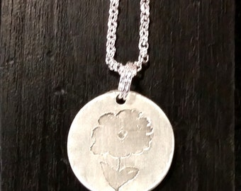 Your Loved One's Artwork: Personalized silver artwork necklace