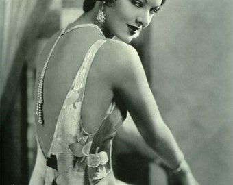 1930's Era Classic Myrna Loy-Style-Black and White print - Multiple Sizes  [730-017]