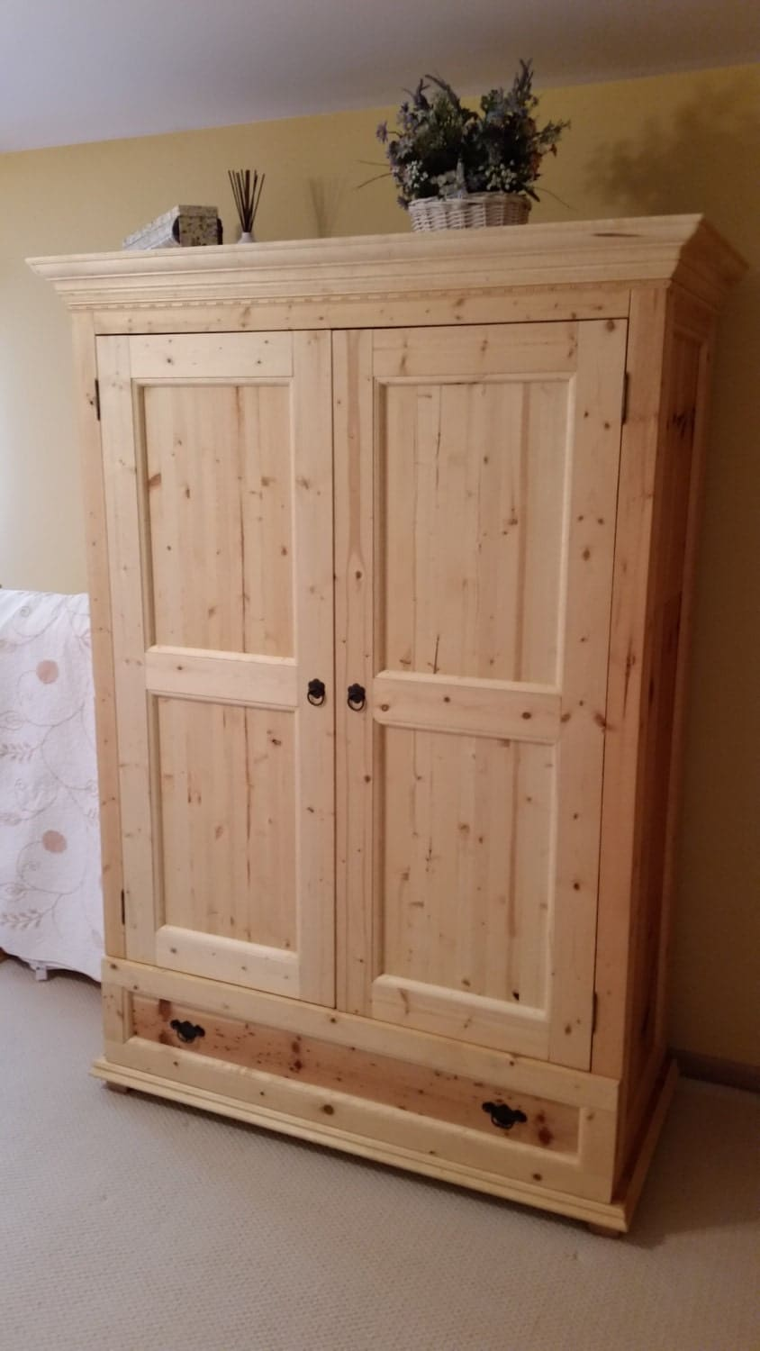 Bedroom armoire wardrobe closet 80 x 51 x for Bedroom armoire with tv storage
