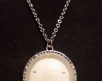Handmade Resin Cast Sand Dollar Necklace