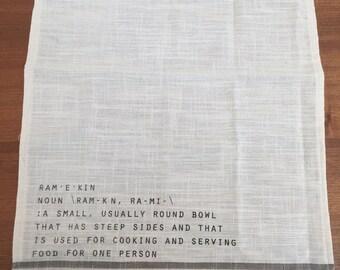 Dish Towel: ramekin definition