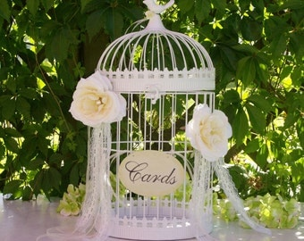 Birdcage card holder Etsy