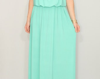 Mint Bridesmaid dress Mint green dress Long mint dress