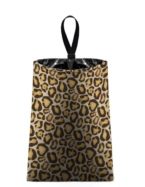 Car Trash Bag // Auto Trash Bag // Car Accessories // Car Litter Bag // Car Garbage Bag - Leopard Print