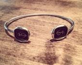 Hope Sustains Me - Anchor Cuff Bangle Bracelet - 204Cuff