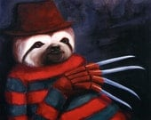 "Nightmare Sloth 8"" x 10"" Print"