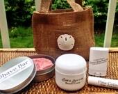 Spa Gift Set Shave Shea Butter Pina Colada Lip Treats Coconut Hair Perfume bridesmaids Mothers Day