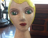 Hand Painted Mannequin Display Head
