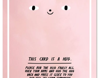 Notecard - This Card Is A Hug
