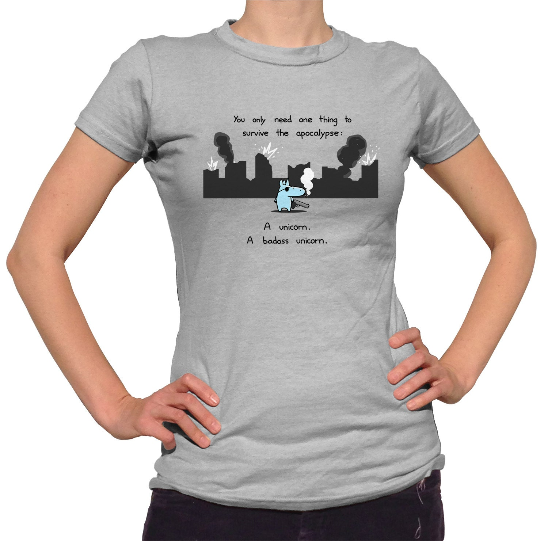 Apocalypse Unicorn T Shirt Cute Funny Unicorn Tshirt Mens