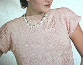 Sweater Knitting Pattern Summer Women Emu 3894 Summer Top Knitting Pattern Vintage Paper Original NOT a PDF