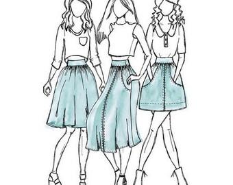 Brumby Skirt - Sewing Pattern - Megan Nielsen
