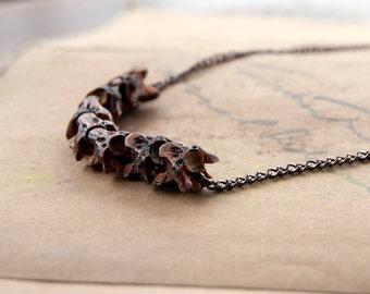 Sacred Tibetan Snake Vertebrae Necklace - Bones - Animal Bones Necklace - Bone Necklace - Snake Bone