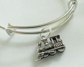 Adjustable Expandable Train Charm Bracelet