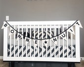 Bonne Nuit Bunting Flag Banner Kids' Room Decoration Monochrome Black or Peach Modern Decoration, Wall Hanging, Pennants. See all IMAGES.