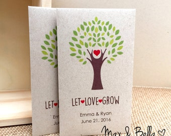 DIY Custom Seed Packet Wedding Favors, Let Love Grow, Custom Envelope, Kraft, Personalized Envelopes, Wedding Favors, Wedding Momento