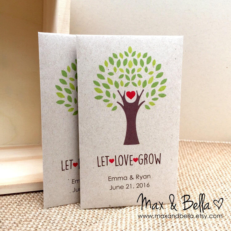 diy custom seed packet wedding favors let love grow custom