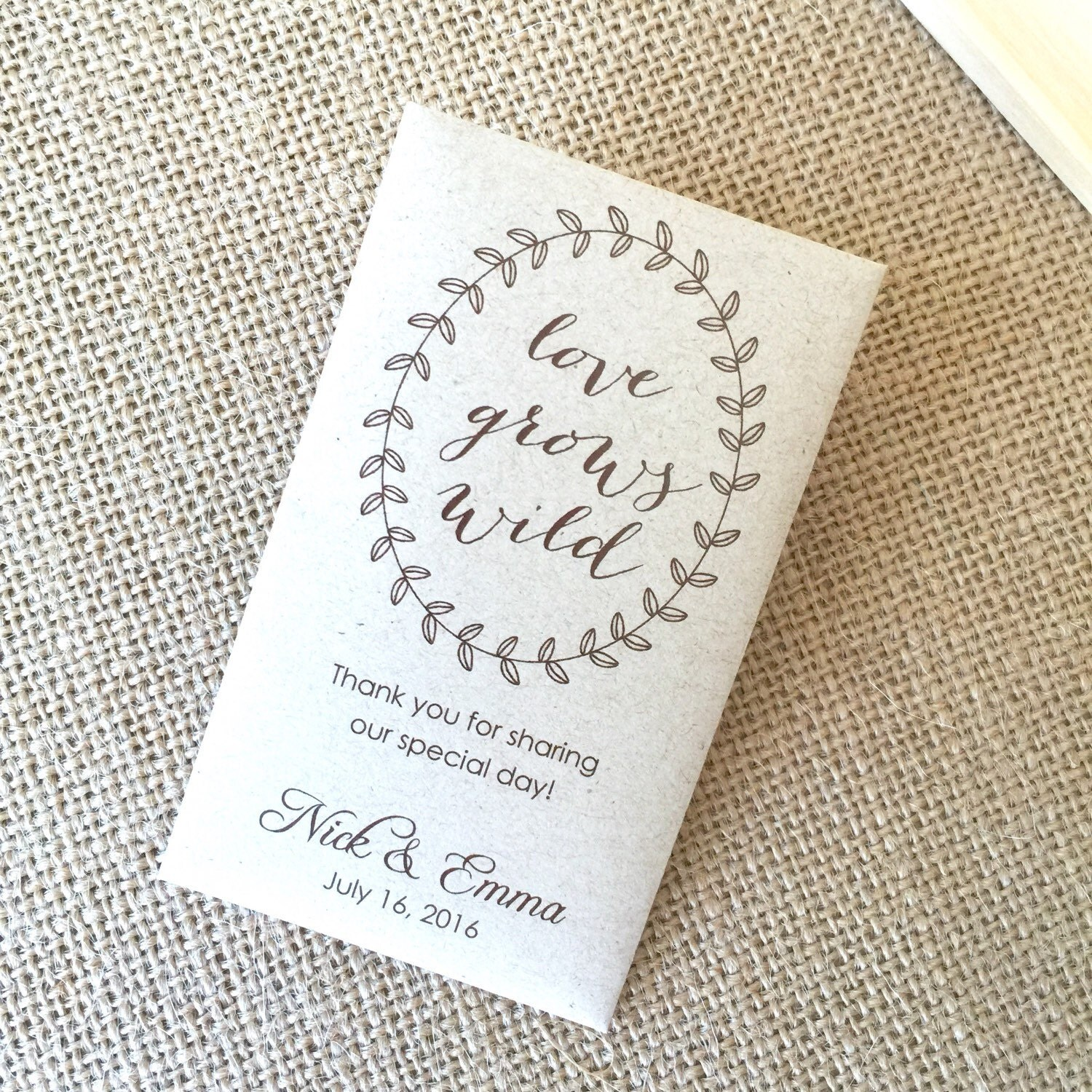 Seed Packets Wedding Favors - home decor - Decordova.us