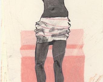 Party Dress (original drawing, 2015)