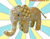 Elephant Plushie Sewing Pattern