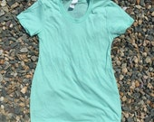 Stylish and comfortable discobelly brand blank maternity top in Mint Green (Made in USA)
