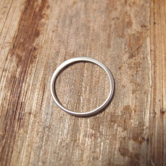 MATTE Silver Link, Circle Link Connector, Sterling Silver Charm, Simple Elegant Charm, Jewelry Supplies(CH 2405)