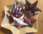 Fourth of July Patriotic Star Bowl Filler Ornament Decorations