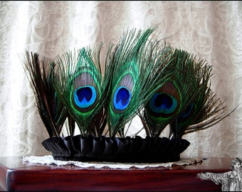 Velvet Peacock Queen Crown by Kambriel - Brand New & Ready to Ship!