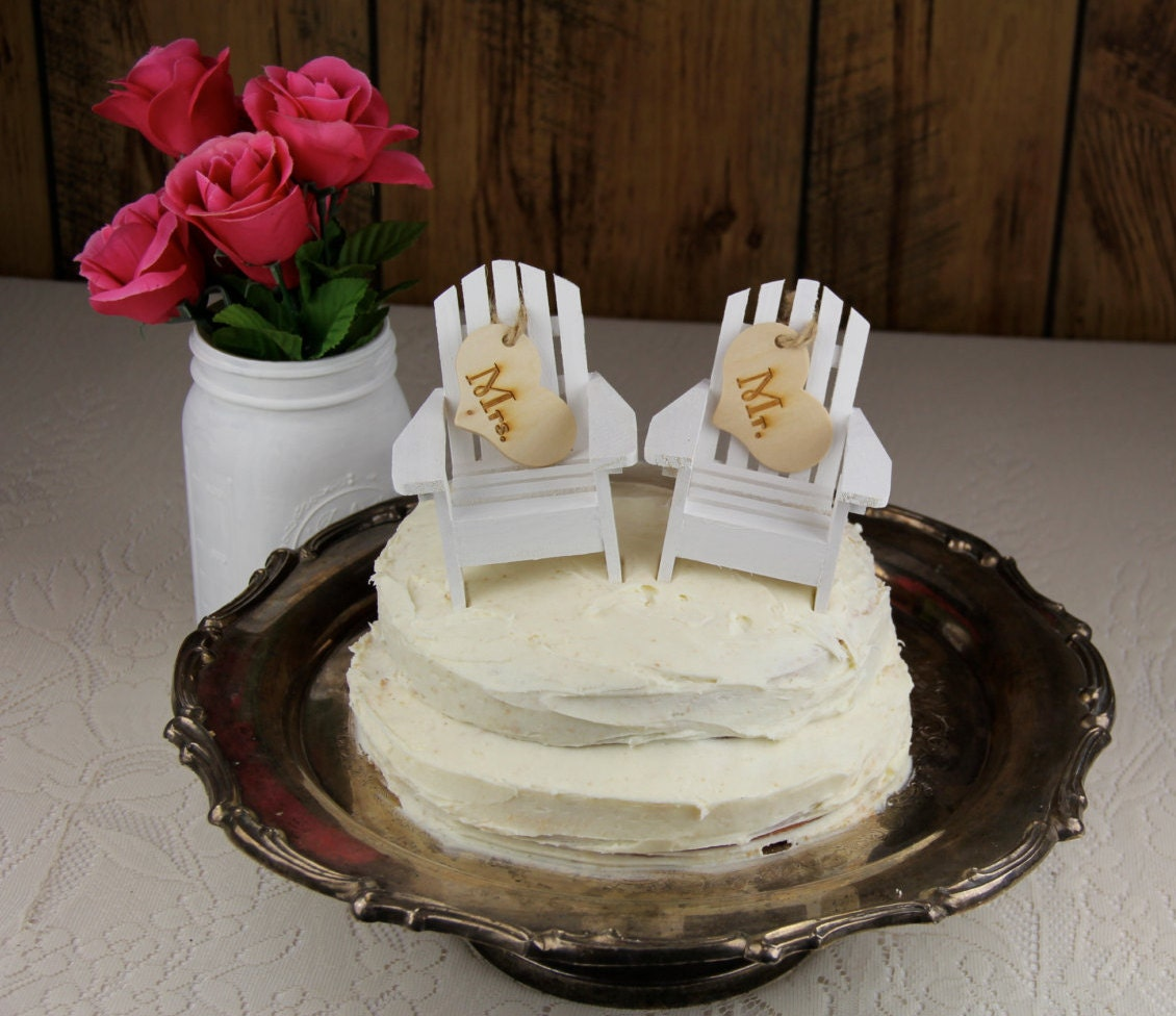 Adirondack Chair Cake Topper Adirondack Wedding Beach Chair