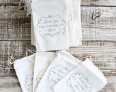 custom wedding favor bag 5x8 personalized muslin stamped bags 100 qty