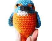 Kingfisher Amigurumi Pattern - Bird Crochet Pattern - PDF