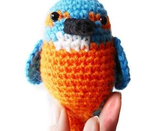Kingfisher Amigurumi Pattern - Bird Crochet Pattern - PDF