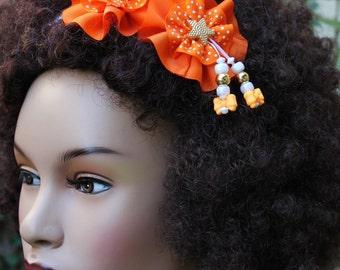 Headband, Natural Hair Headband, Hair Accessories, Hair Jewelry, Natural Hair, Women, Little Girls, Orange Spice Headband