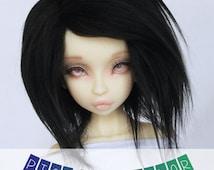 """BJD Doll wig MSD Unoa BJD wig 6"""" Short Pick Your Color fake fur wig MonstroDesigns"""