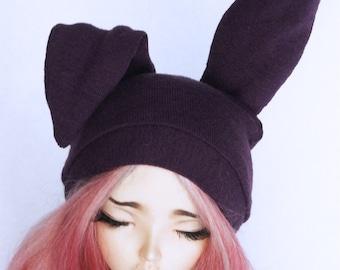 MSD BJD Minifee clothes Purple Bunny beanie  MonstroDesigns