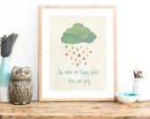 Skies Are Grey Print 11x14 Nursery Wall Art, Kid's Art Decor, Gender Neutral Nursery, Children's Room Decor, Nur