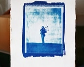 The strains of a farewell (limited edition cyanotype print size A1 A3 and A5)