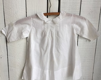 Vintage Baby Dress - Hand-Sewn White Cotton Voile - Handmade Lace - 2 Dresses