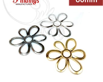 Quality Cast 80mm  Amorphous Flower Pendant Decorative Fashion , Choose your Color  (CH9)