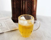 Miniature Beer with Foam in LARGE Plastic Mug - Partially Consumed - Miniature Realistic Beverages for 1:6 Scale Fashion Dolls and Figures