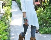 Idea2lifestyle - Moroccan breeze - zen asymmetrical cotton tunic dress (Q1506S)