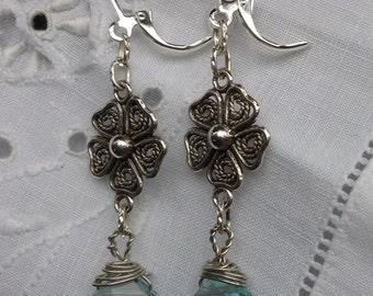 oO CORALIE Oo ultramarine quartz briolette earrings