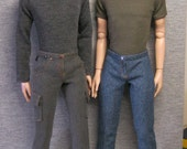 "STRAIGHTFORWARD Sewing Pattern PDF- SSP-020:  Pants, jeans, teeshirts, for 17"" Tonner male dolls. Matt, Rufus, Phin and Wilde's new boy Penn"