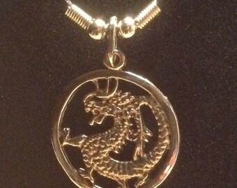 Asian Inspired Goth Dragon Pendant