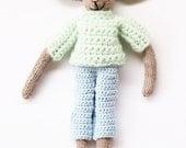 Paulina the dress up toy bunny, hand knit bunny rabbit soft toy, knitted toys, hand knitted toys, knit toy, doll, bunny, crochet bunny