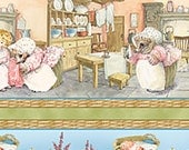 Mrs Tiggy Winkle Stripe Mouse Quilting Treasures Fabric