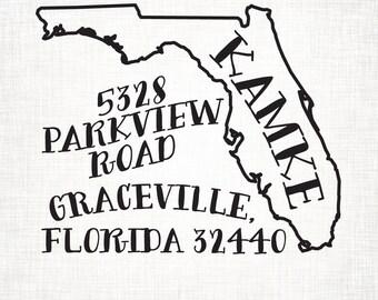 Florida Personalized Return Address Stamp