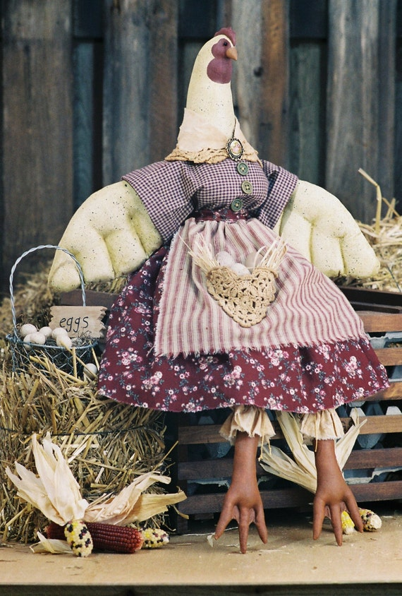 Collectible Handmade Country Hen Art Doll